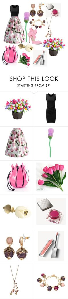 """""""Tulip"""" by flamingos-and-unicorns ❤ liked on Polyvore featuring Improvements, Doublju, Chicwish, Burberry and Dana Buchman"""