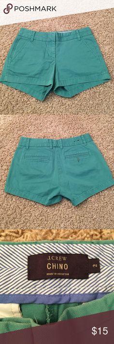"😎 J. Crew Chino Short 😎 J. Crew Chino Short Faded Green, Size 2,  3"" Inseam,  Very Cute!!!! J. Crew Shorts"