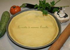 PASTA FROLLA SALATA SENZA BURRO E UOVA -ricetta torta salata basi