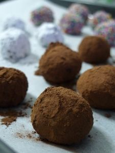 Dark Chocolate Nutella Truffles