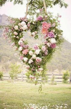 Un jolie cœur de fleurs
