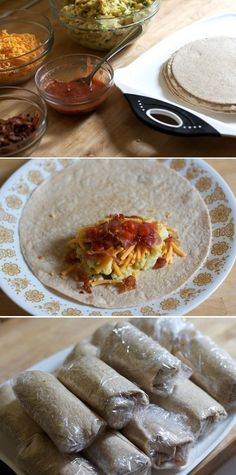 Freezer-ready Breakfast Burritos