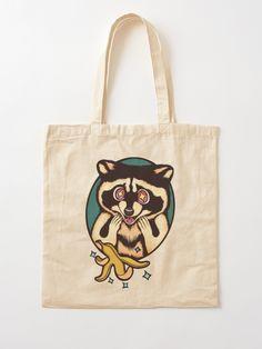 'Trash Panda - Urban Legends (Raccoon)' Tote Bag by MonoMano Cotton Tote Bags, Reusable Tote Bags, Classic Comics, Urban Legends, Unique Bags, Custom Art, Pouches, Cat Lovers, Panda