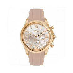 Γυναικείο κομψό ρολόι JCou JU16059-1 Southcoast με ασημί καντράν 93d838333f2