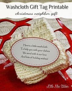 Neighbor Christmas Gifts, Christmas Gift Tags Printable, Free Printable Gift Tags, Neighbor Gifts, Homemade Christmas Gifts, Christmas Tag, Christmas Printables, Homemade Gifts, Christmas Crafts