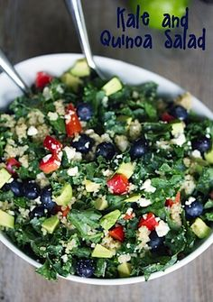 Everyday Kale and Quinoa Salad (serves 6):