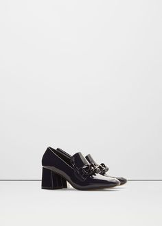 Patent heeled loafers -  Women | MANGO USA