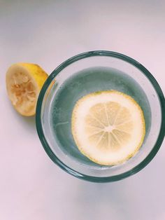 Starting the day... Warm water with lemon.