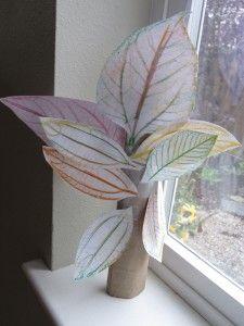 Leaf Rubbing Tree...gather leaves, make rubbings, then cut & glue to make a tree!