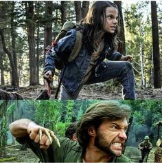 """Life father like daughter. 😎 """"C'mon C'mon let's Snikt together"""" Hugh Jackman, Hugh Michael Jackman, Hugh Wolverine, All New Wolverine, Marvel Characters, Marvel Movies, X 23, I Understood That Reference, Cw Series"""