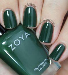 Zoya Hunter #greennailpolish