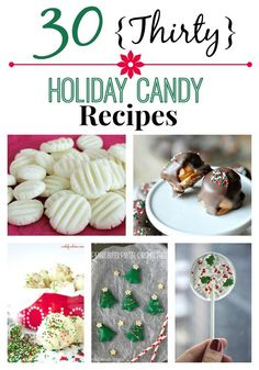 30 Holiday Candy Recipes Homemade Candy treats are always part of our Holiday preparations. Always tasty, easy to make and make a great gift. Here are 30 Holiday Candy Recipe ideas to get you started! Christmas Sweets, Christmas Cooking, Christmas Goodies, Christmas Candy, Homemade Christmas, Christmas On A Budget, Xmas Food, Christmas Decor, Holiday Candy
