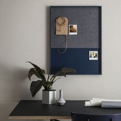 Frame Pin Board, Blue From Ferm Living