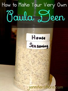 How to Make Your Very Own Paula Deen House Seasoning - Jen Around the World - seasonings - Paula Deans House Seasoning Salt, Pepper & Garlic powder. Homemade Dry Mixes, Homemade Spices, Homemade Seasonings, House Seasoning Recipe, Seasoning Mixes, Paula Deen Seasoning Recipe, Paula Deen Seasoned Salt Recipe, Everyday Seasoning Recipe, Hamburger Seasoning