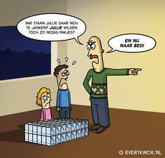 Ja typisch. #cartoon -Evert Kwok Funny Pix, Funny Pictures, Funny Cartoons, Cartoon Humor, Word Art, I Laughed, Haha, Family Guy, Jokes