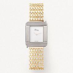 Montre Ma Première Chaîne Poiray Motif Hexagonal, Motifs Perler, Square Watch, Watches, My Love, Accessories, Bracelet Making, Bracelet Watch, Clock Art