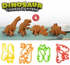 3-D Dinosaur Cookie Cutters - contemporary - kitchen tools - by Perpetual Kid
