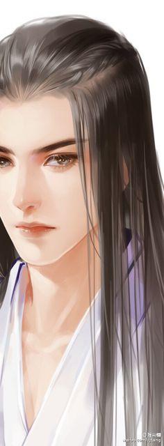 Beautiful man,chinese,long hair
