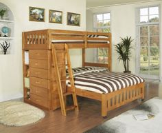 Discovery World Furniture Twin over Full Loft Bed, Honey ... https://www.amazon.com/dp/B00T7NP5YW/ref=cm_sw_r_pi_dp_x_7LAwzbQHBF6PS