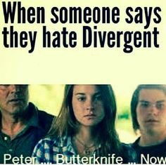 Nobody at my school knows about divergent only my friend because I lent it to her