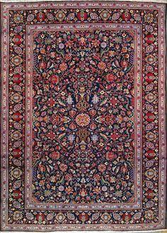 """Esfahan Persian Rug, Buy Handmade Esfahan Persian Rug 7' 6"""" x 10' 8"""", Authentic Persian Rug"""