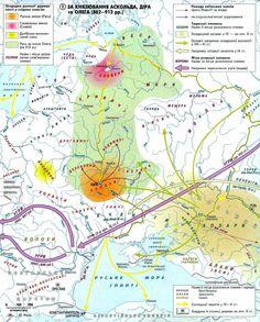 Map of the Slavs and Ugro - Finns Ukraine, Medieval, Poland, Russia, Ethnic, Women's Fashion, Life, Maps, Historia