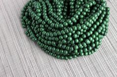 6mm Olive Green Round Wood Beads Dyed and Waxed 15 inch