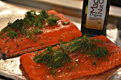 Hugs & CookiesXOXO: SALMON WITH MAC NUT OIL!