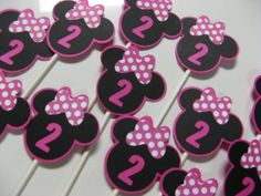 Minnie Mouse birthday cupcake toppers