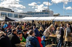 Open market in the meat-packing district, tight next door. The old professional meat market of Copenhagen has turned into an urban culture hot-spot with art galleries, micro breweries, food joints... you name it. Open market every Saturday and first Sunday of the month.