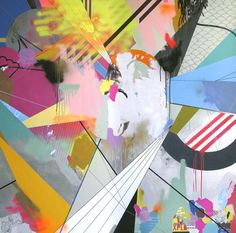 Clark Goolsby is a painter and sculptor living in Brooklyn where he creates these incredible surreal paintings. He likes to experiment with abstract gradie Love Collage, Collage Art, Graphic Illustration, Graphic Art, Abstract Pattern, Abstract Art, Neon Colors, Colours, Surrealism Painting