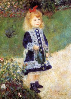 Girl with a Watering Can 1876 | Pierre Auguste Renoir | Oil Painting