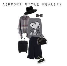 """""""Airport Style in Reality"""" by scoutmass ❤ liked on Polyvore featuring Sonia Rykiel, Princess Goes Hollywood, Puma, Givenchy, Kate Spade, Maison Michel and CÉLINE"""