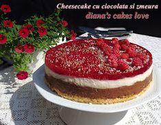 diana's cakes love: Cheesecake cu ciocolata si zmeura Tiramisu, Biscuit, Pancakes, Cheesecake, Breakfast, Ethnic Recipes, Morning Coffee, Cheesecakes, Pancake