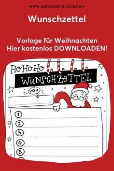 Da freut sich der Weihnachtsmann!  Nutze für dich oder deine Kinder meine Sketchnotes Vorlage für einen Wunschzettel. Die gibt es jetzt hier kostenlos und der Weihnachtsmann darf dein Zeichenwerk bewundern.  Weihnachten | Vorlage Weihnachten | Wunschzettel |  Wunschliste |  Wunschzettel Weihnachten |  Wunschzettel Kinder | Wunschzettel Ideen | Sketchnotes | Sketchnotes Vorlagen | Sketchnotes Rezepte | Sketchnotes Weihnachten #Nadine Roßa #Sketchnotes-love Workshop, Sketch Notes, Simple Doodles, Infographic, Creative, Party, Visual Note Taking, Drawing Faces, Doodle Art Simple