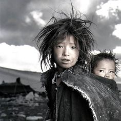 """Phil Borges: Tibetan portraits.  """" From the moment of birth every human being wants hapiness and wants to avoid suffering. In this we are all the same."""" -Dalai Lama"""