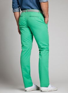 Bonobos Men's Clothes - Green Slim Straight Washed Chino's