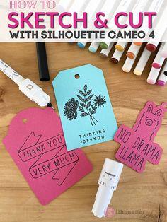 silhouette 101, silhouette america blog, Cameo 4, sketch pens, paper crafts