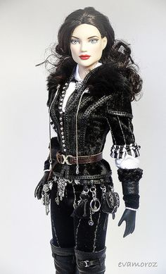 "Yennefer von Vengerberg ""Witcher 3 Wild hunt"" Tonner Judy Witcher 3 Yennefer, Yennefer Of Vengerberg, Witcher 3 Wild Hunt, Fantasy Inspiration, Goth, Art Gallery, Barbie, Gaming, Fandom"