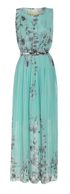 MUST SHARE Mint floral maxi dress...