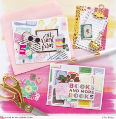 It's Flóra here today! I am sharing two girlish cards made with the oldie but goodie Oh My Heart collection. I love the fun papers with. Scrapbook Albums, Scrapbook Cards, Scrapbooking, Mail Art Envelopes, Arts And Crafts, Paper Crafts, Diy Crafts, Oh My Heart, Heart Cards