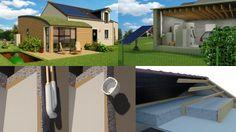 Exemples d'illustrations 3D pour des équipements d'une maison écolo