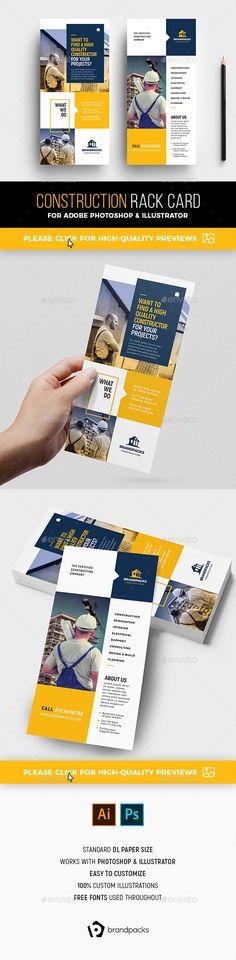 rack cards design rack card templates
