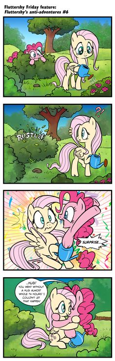 These are cute! Fluttershy and Pinkie Pie My Little Pony Games, My Little Pony Cartoon, Pinkie Pie, Mlp Comics, Funny Comics, Artist Pencils, Fluttershy, Discord, Short Comics