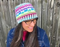 Skill Level: Intermediate  Now you can make this award winning beanie!  The Fair Isle Love #beanie was the 1st place winner for Small Accessories at the 2013 CGOA Conference... #charity #heart