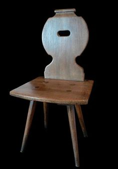 primitive french wood chairs - Google Search