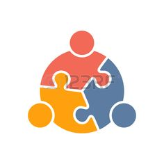 Teamwork People puzzle three pieces. Vector graphic design illustration Stock Vector - 56118813