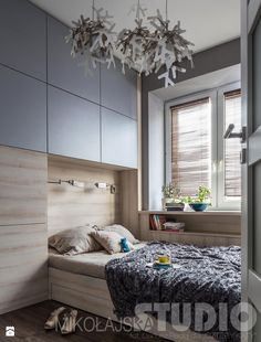 Sypialnia ze śnieżynkami Sypialnia - zdjęcie od MIKOŁAJSKAstudio