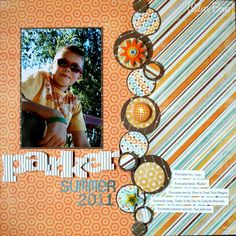 #papercraft #scrapbook #layout    Summer Layout {My Mind's Eye}