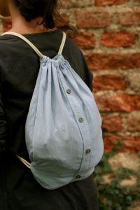 Drawstring backpack/ nahrbtnik | diy crochet